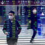 Image for the Tweet beginning: Asian shares cautiously gain on