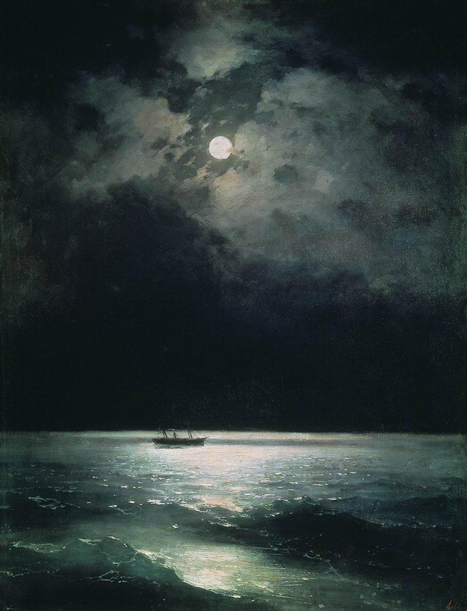 Ivan Aivazovsky, Black Sea at Night, 1879. #paintings #Russiapic.twitter.com/kfCTB252AV