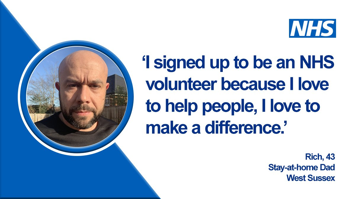 Over 750,000 people signed up to join #NHSVolunteerResponders in just four days — and today, volunteers like Rich are now reporting for duty. ✊ The huge response means 2.5 million vulnerable people will be supported across the country! https://t.co/kIzyPIv0rX https://t.co/aT75tF3sYu
