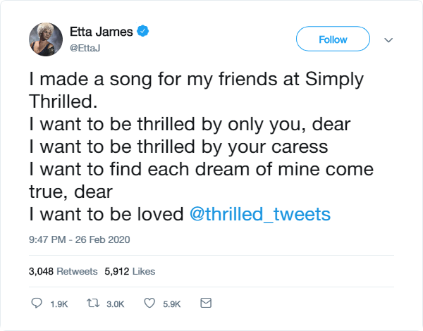Etta James spits dope bars. Might even follow her back eh? #videoproduction #nottingham