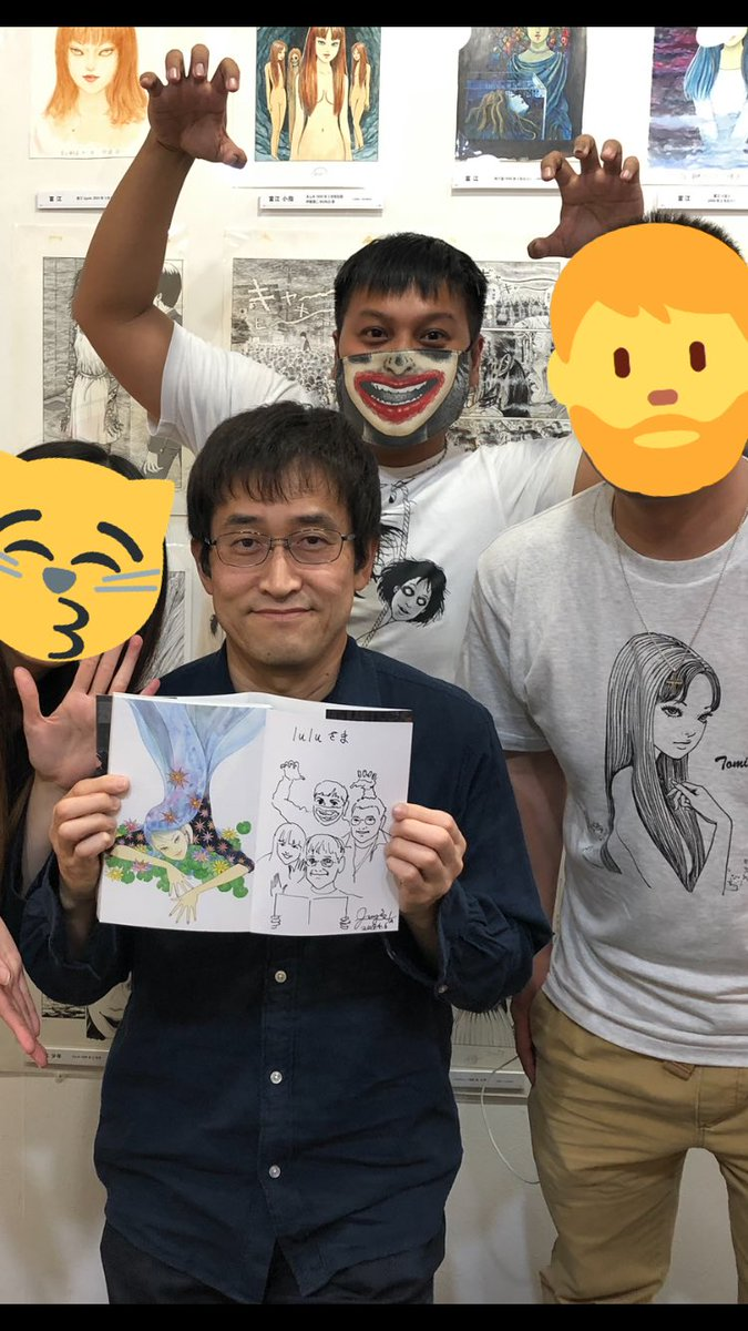 A year ago today  All my friends and full of love With Ito Junji sensei  #junjiito #友誼的小船翻不動 #銀座 #有楽町 #spanartgallerypic.twitter.com/5iegrVaju8