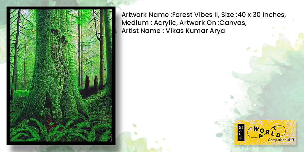 """Forest Vibes II"" by ""Vikash kumar arya""  brings out the changes in nature when there is a change in weather.The artist  Captures the minutest detail of moss growth on the trees and the sunlight during fog giving it a completeness to nature's beauty. pic.twitter.com/JpKY1hyZbD"