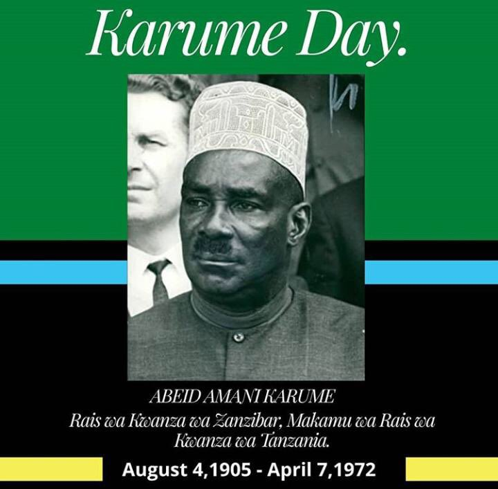 In the remembrance of his dedicated life to the majority. Happy Karume day #Tanzania pic.twitter.com/7T5xFbsC3r