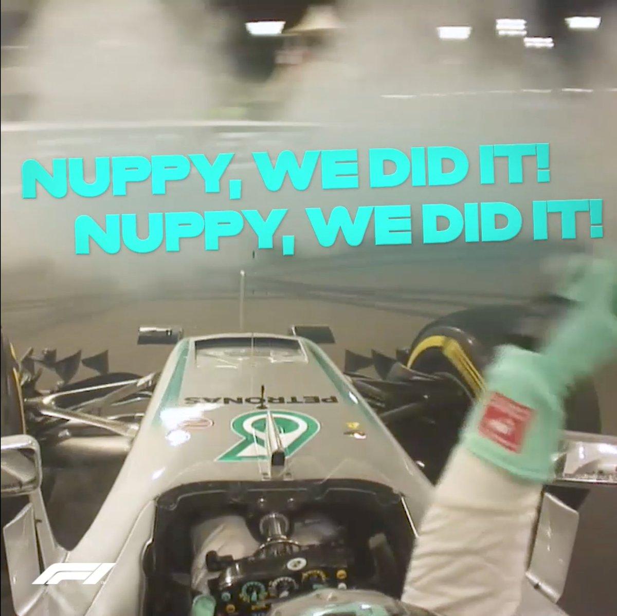 Nupppppy, we did itttttttt!!! 😍  #F1 #AbuDhabiGP ⏪ 2016