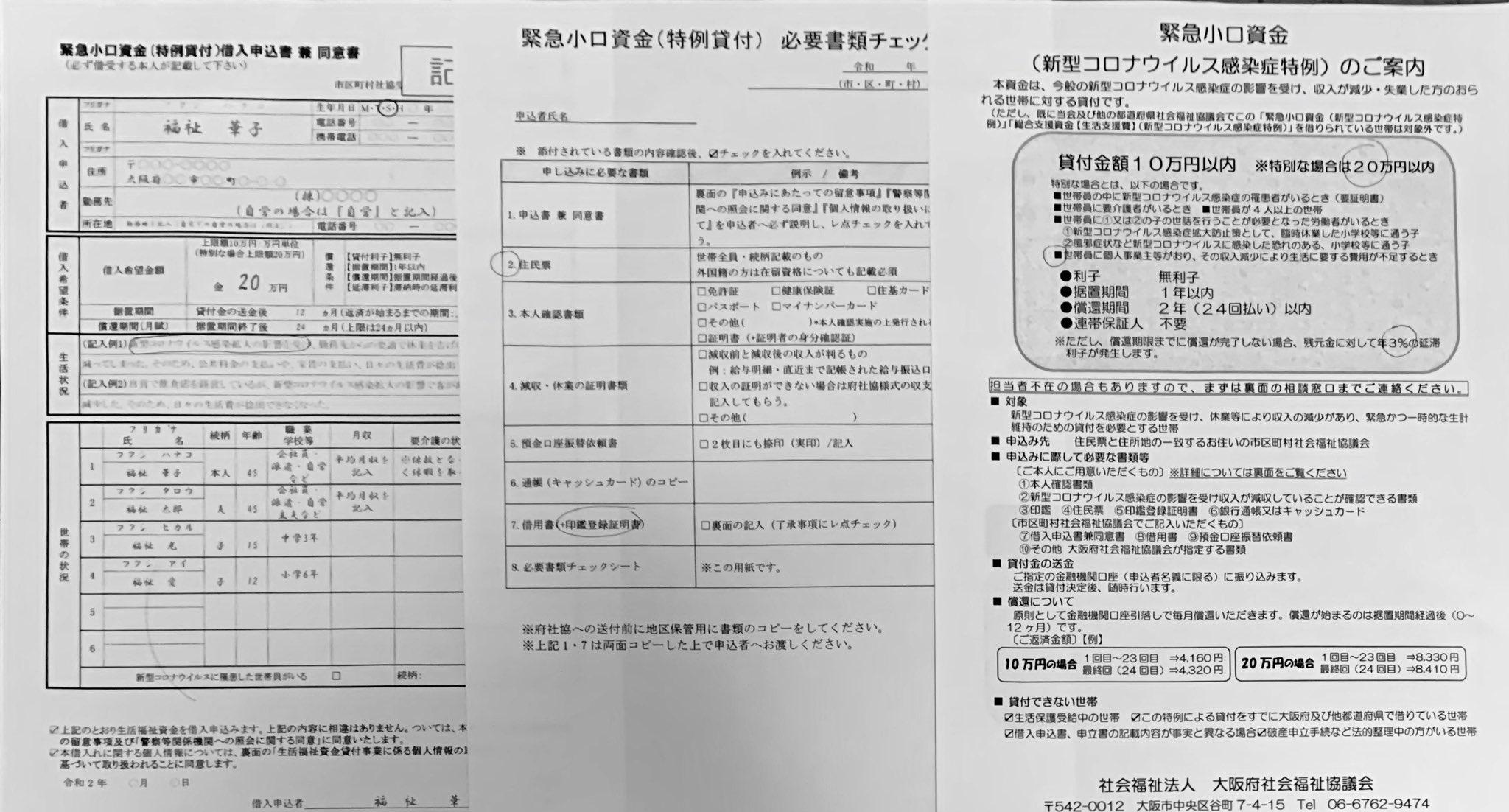 小口 資金 大阪 緊急