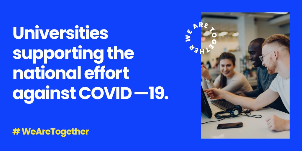 We are proud to be part of a network of UK universities playing a huge role in the fight against #Covid19 by training our #healthcareheroes. This #WorldHealthDay we are thanking them all for their brave and incredible efforts. #WeAreTogether buff.ly/3bJlRow