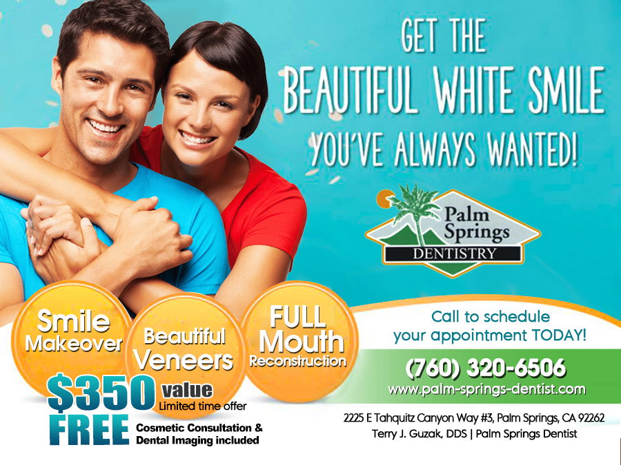 Get the BEAUTIFUL WHITE SMILE you've always wanted! Call to Schedule your Appointment Today! (760) 320-6506 #PalmSpringsDentistry #DentistPalmSpringsCA #DrTerryJGuzak #SmileMakeover #Veneers #FullMouthReconstruction pic.twitter.com/zUaGVUNYhB