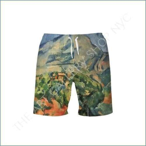 Todays featured product - Paul Cezanne Rainbow Mountain Mens Swim Trunk. Available at: theartgalleryshopnyc.com/products/paul-…. Posted via SumAll sumall.com/product-post?u…