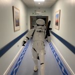Image for the Tweet beginning: A Stormtrooper in the hospital?!