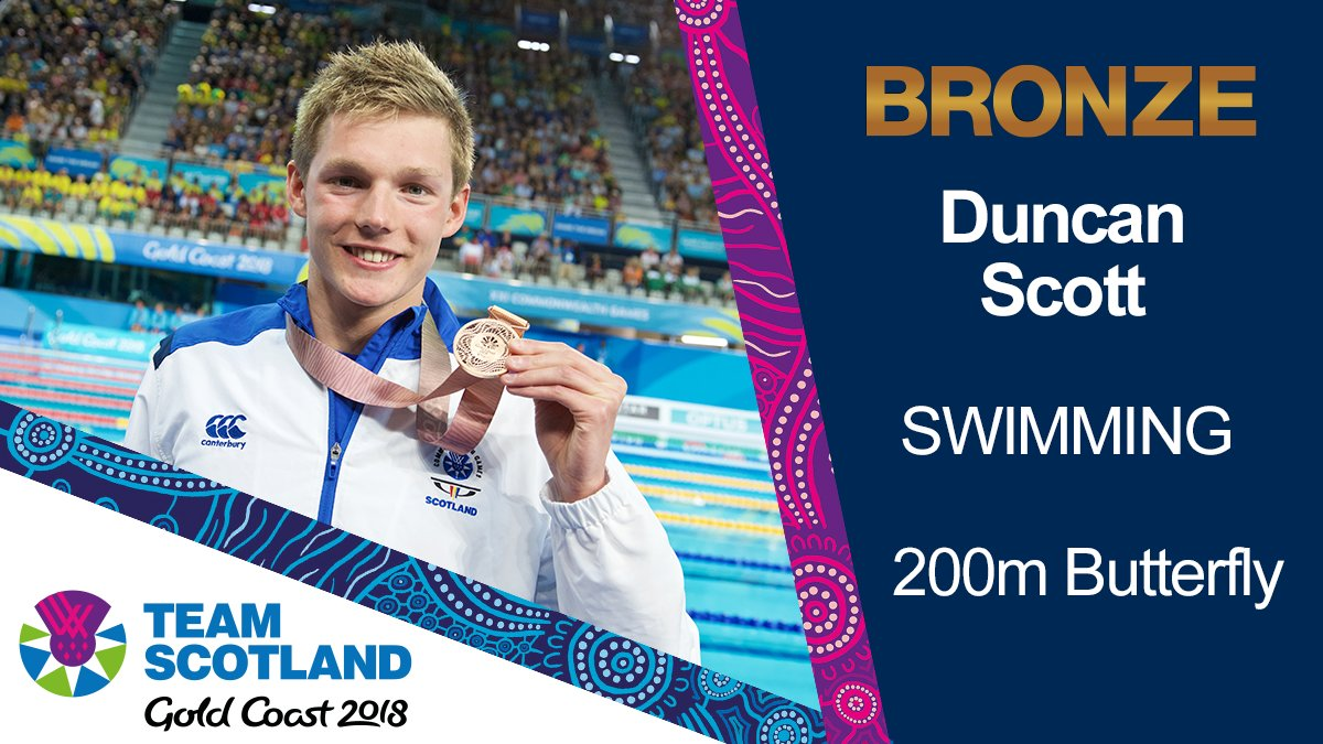 First international race in the 200m Fly? No problem for @Dunks_Scott who stormed down the last 50m to take BRONZE two years ago today - his third of Gold Coast 2018!  #GoldCoastMemories #GC2018pic.twitter.com/qDNxMQ6HYG