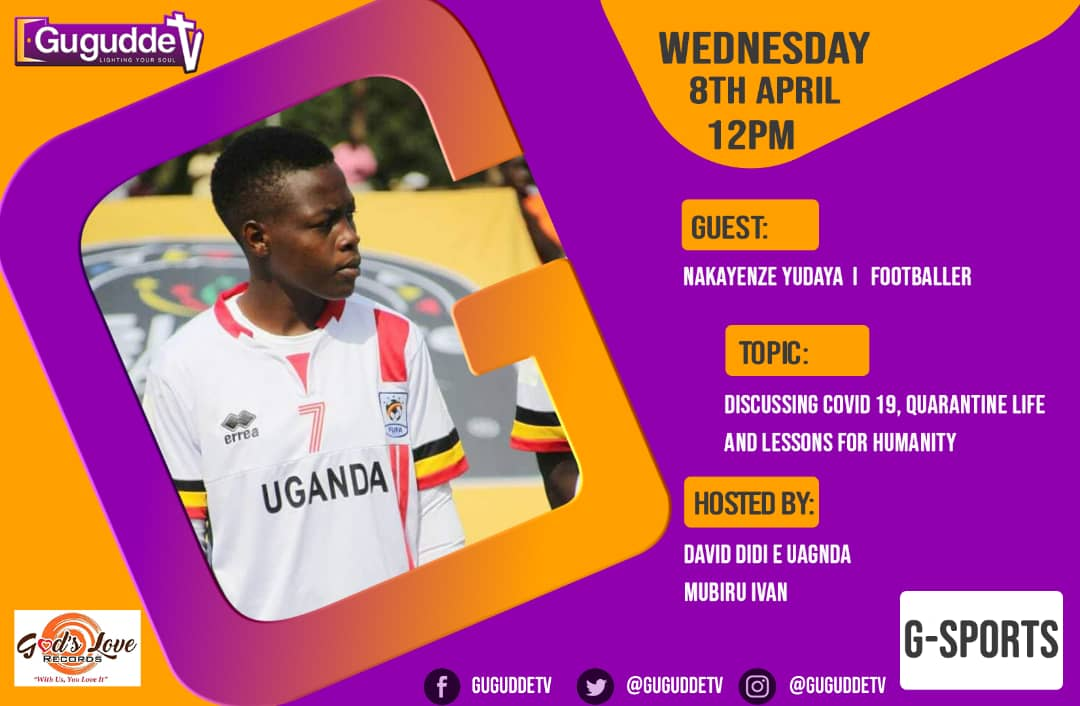 @GuguddeTv  All will be Discussed with uganda crested cranes Verstile player Yudaya Nakayenze based in USA for the Growth of women football in uganda @OfficialFUFA @MosesMagogo @DavidLumansi @DaLostBrazilian All will be via Skype @jeansseninde @AsuboGaffordpic.twitter.com/3plIoAF5wu