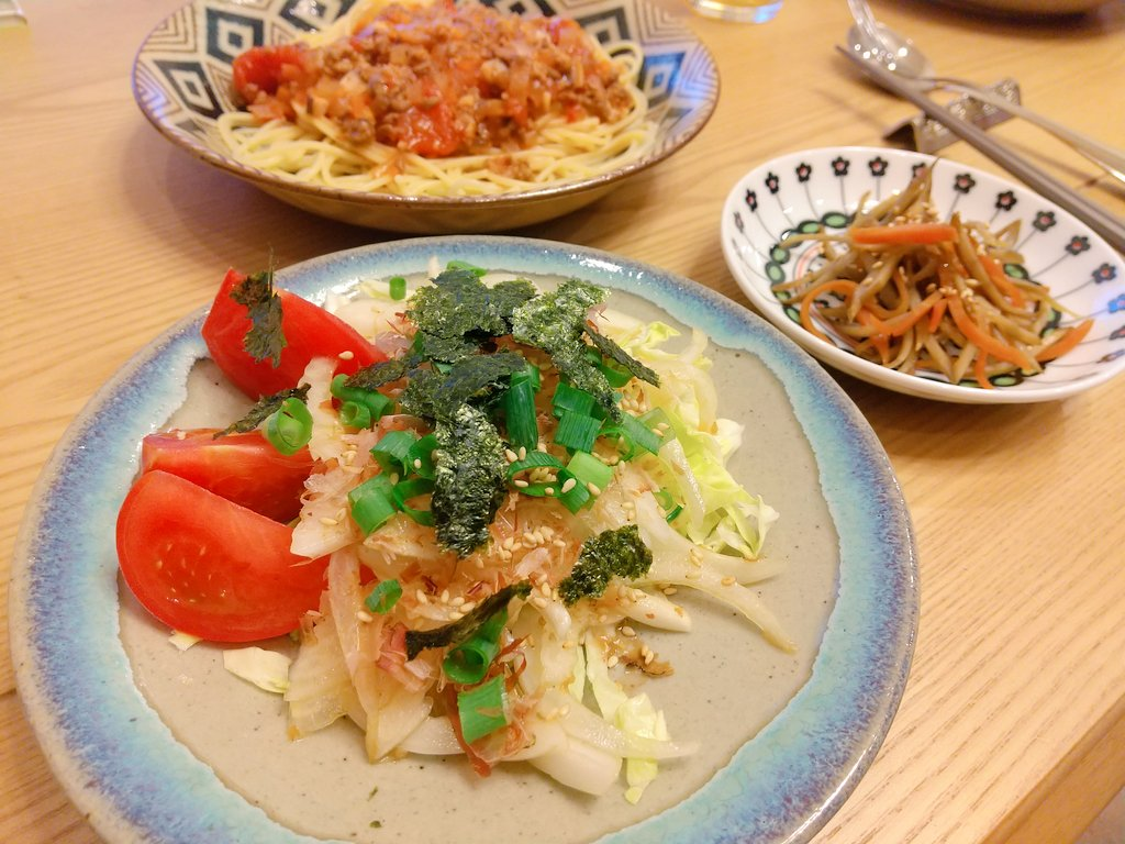 新玉ねぎが美味しい季節(*´ー`*)今日はおいしいパスタです🍝🍅✨#すいれぽ簡単!新玉ねぎサラダ by moj