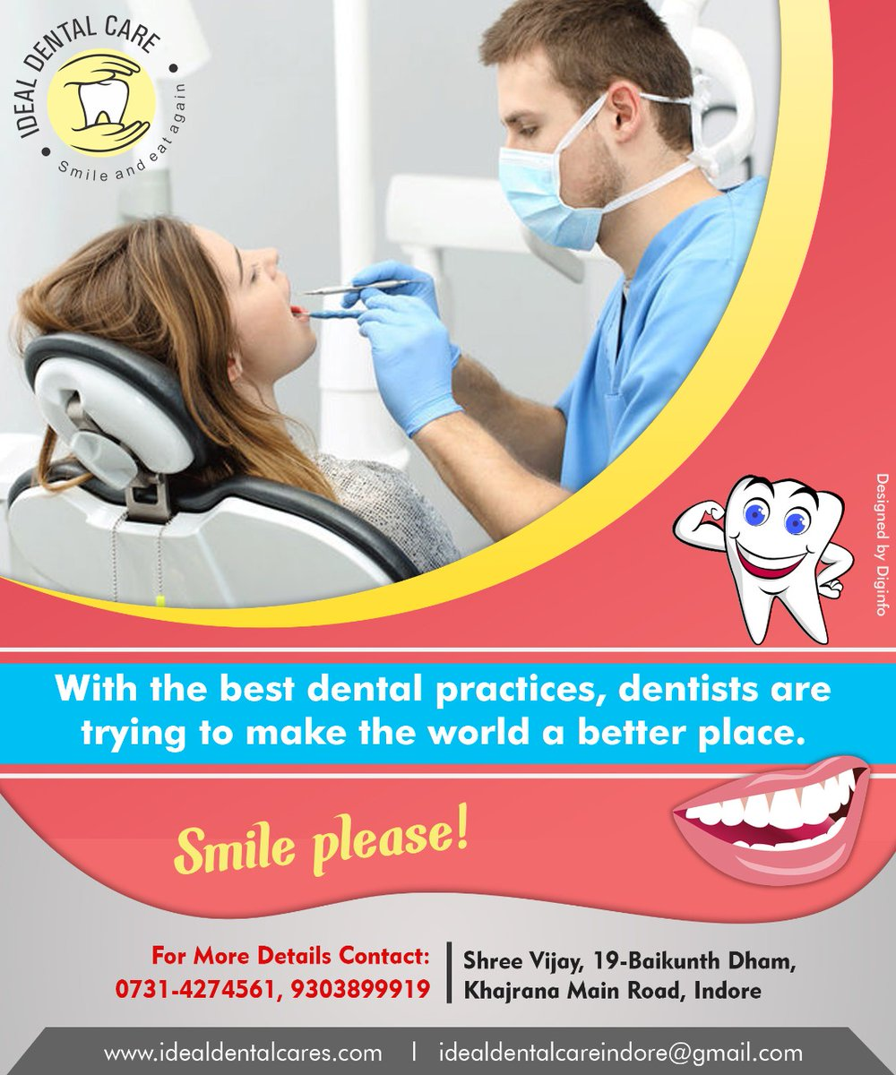 Hygiene should be a part of your daily routine. And to get rid of all your dental issues, visit Ideal Dental Care. We give you painless treatment and a set of shiny and healthy teeth  #idealdentalcare #dentalcare  #Oralhealth #Nocavities #cosmeticdentistry #TheLockdownpic.twitter.com/9B9r19zYOr