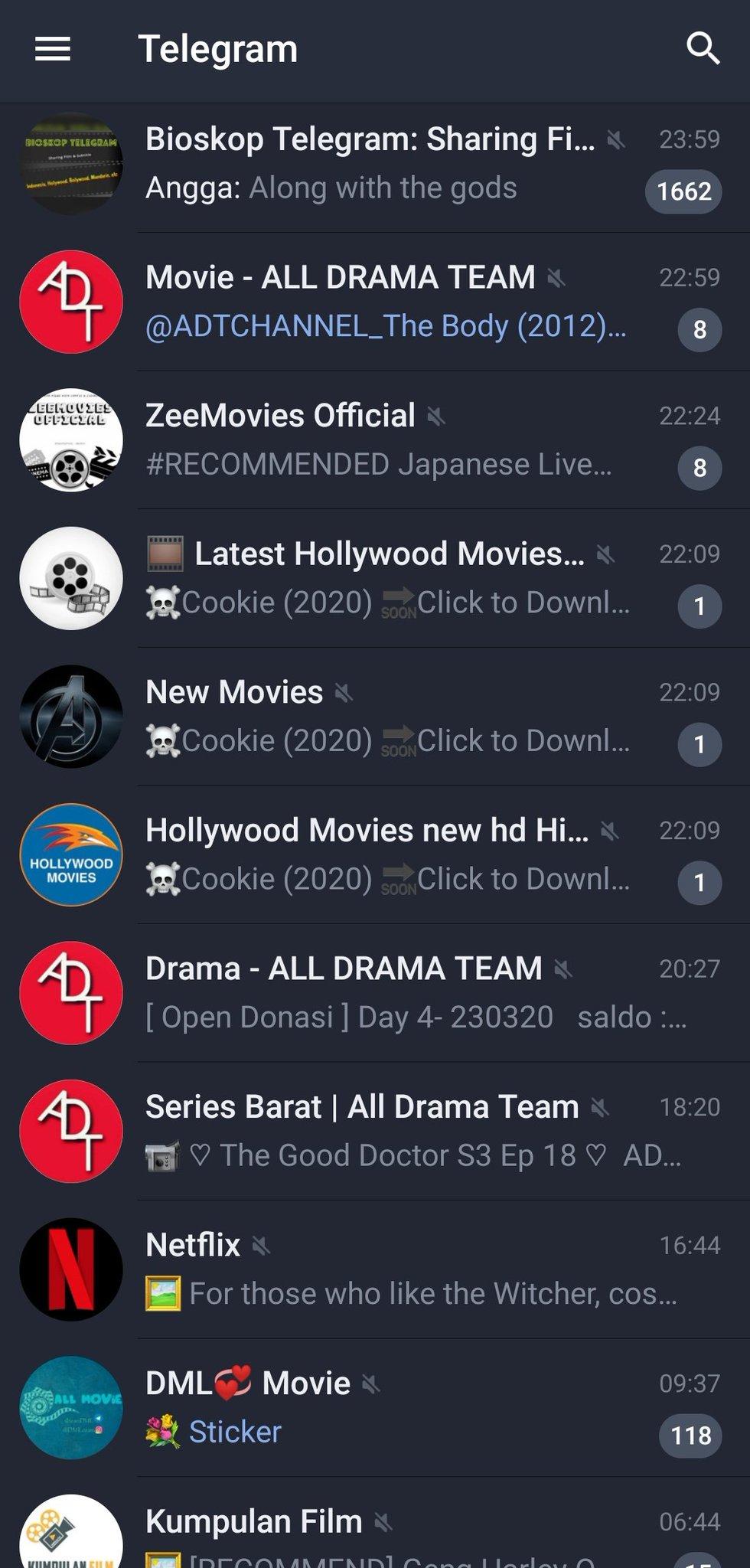Нð¢ððš On Twitter Kumpulan Grup Dan Channel Film Telegram Karena Kebanyakan Yang Pada Dm Ke Aku Ttg Ini Aku Mau Share Grup Dan Channel Telegram Yang Bisa Dibuat Download Streaming Film Biar Ngga