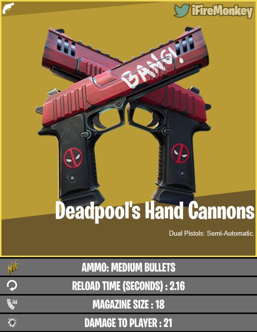 Deadpool hand canons