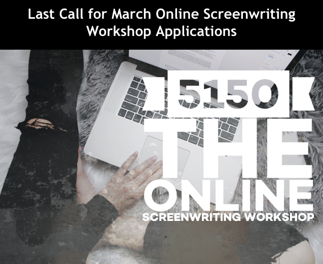 LastCall: Deadline for March 5150 Online #Screenwriting #Workshop applications is March 31. #afwnews #scriptsnews #writing  #writingcommunity #screenwriter https://classes.theafw.com/pages/workshoppic.twitter.com/kn2cOfkZC9