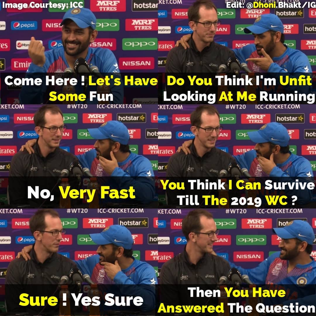 #OnThisDay In 2016,  MS Dhoni Trolled an Australian Reporter On a Question Regarding Retirement in His Own Style !pic.twitter.com/D8niXI5w33