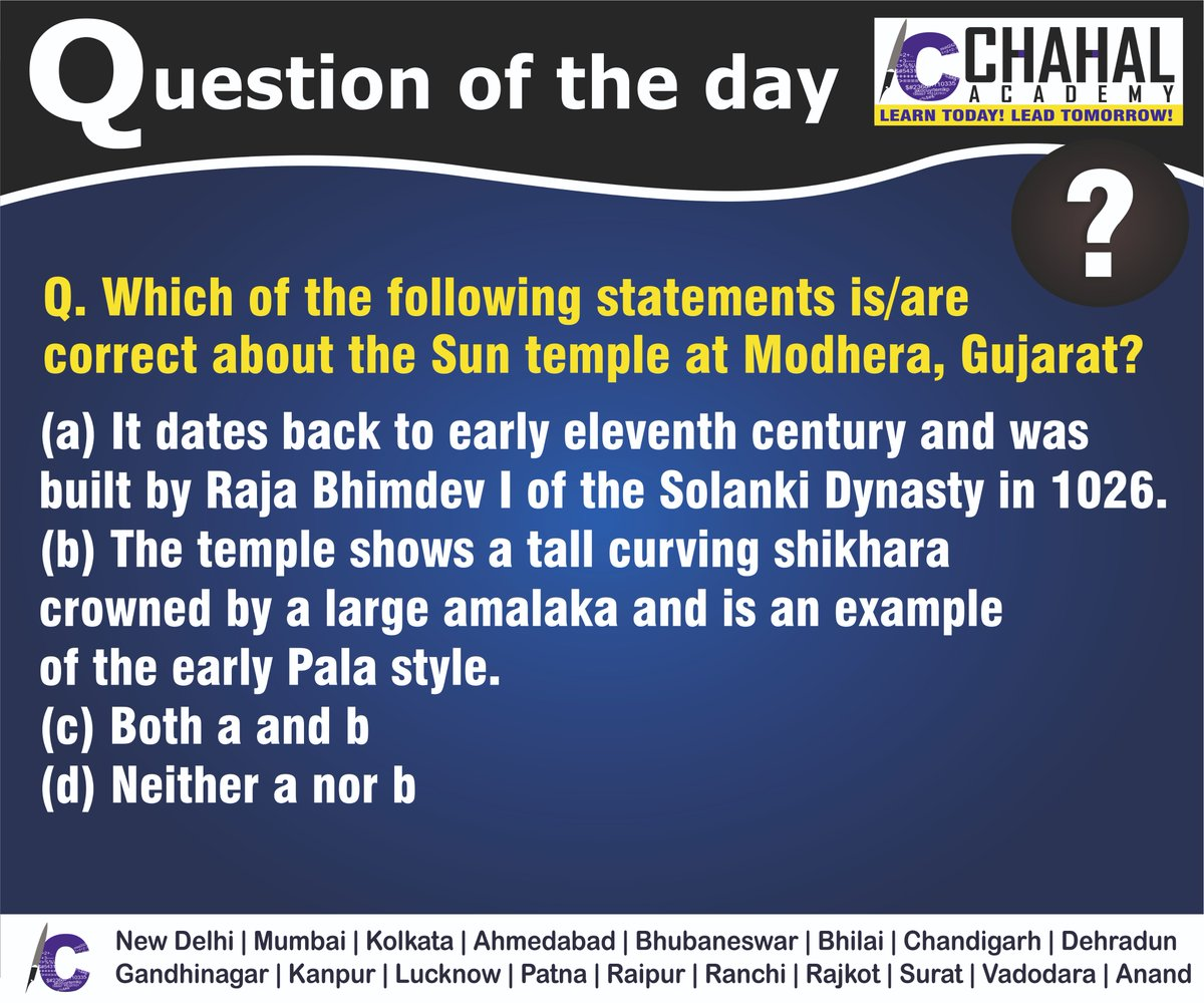 Question of the Day  Answer - A  #31stMarch2020 #Questionoftheday #UPSC2020 #IPS #IBPS #governmentexam #Currentaffairs #iasquestion #UPSCQuestion2020 #dailyquiz #coachinginstitute #iascoachingcenter #IASquestions #civilserviceexam  Visit:- http://chahalacademy.compic.twitter.com/rBBMEpvPQM