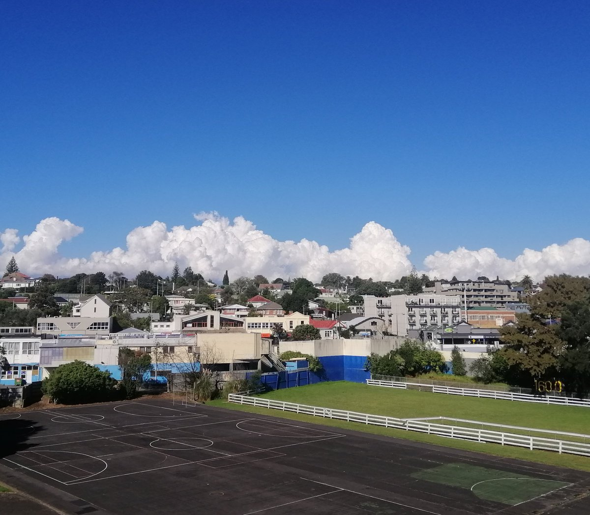 Clouds building looking towards East Auckland