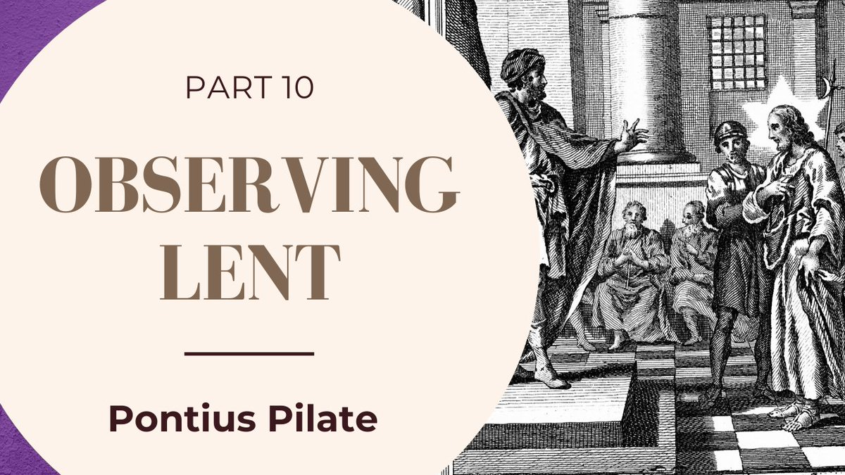 https://youtu.be/GYB6pi5dVlo  Lent Part 10- Pontius Pilate #Foundedonthebible #christianvlog  #christianblog #devotional #lentendevotional #lent #easter #passover #pontiuspilate #freebibleresource #freechurchresourcepic.twitter.com/v9m0seLanV