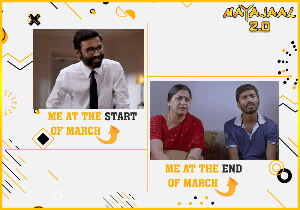 Started with formals but ended with PJs  #mayajaal #march #FinancialYear #WorkFromHome #lockdown #WFH #Dhanush #VIP #StayHomepic.twitter.com/37pqdf2vmK