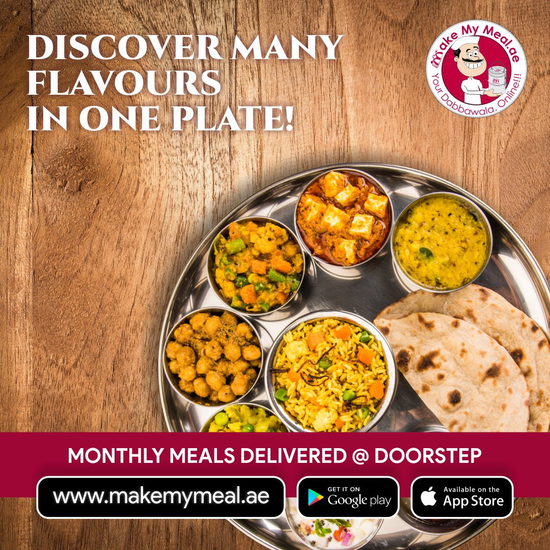 Feast on some of our delicious and hearty meals from Make My Meal.  Order Now:  Call us: +971 4521 7475  #freshfood #tiffinservices #vegfood #tastyfood #healthyfood #dubai #referandearn