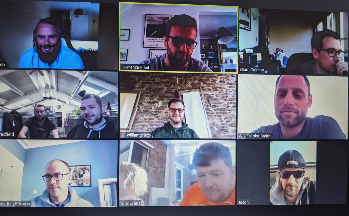 We had good fun on #friday afternoon hosting our first #virtualbar with a few #beers! If you're a #brewer and would like to catch up with peers over a can or two slide into our DM's for more info. Cheers!  pic.twitter.com/7FRFWAHoAP
