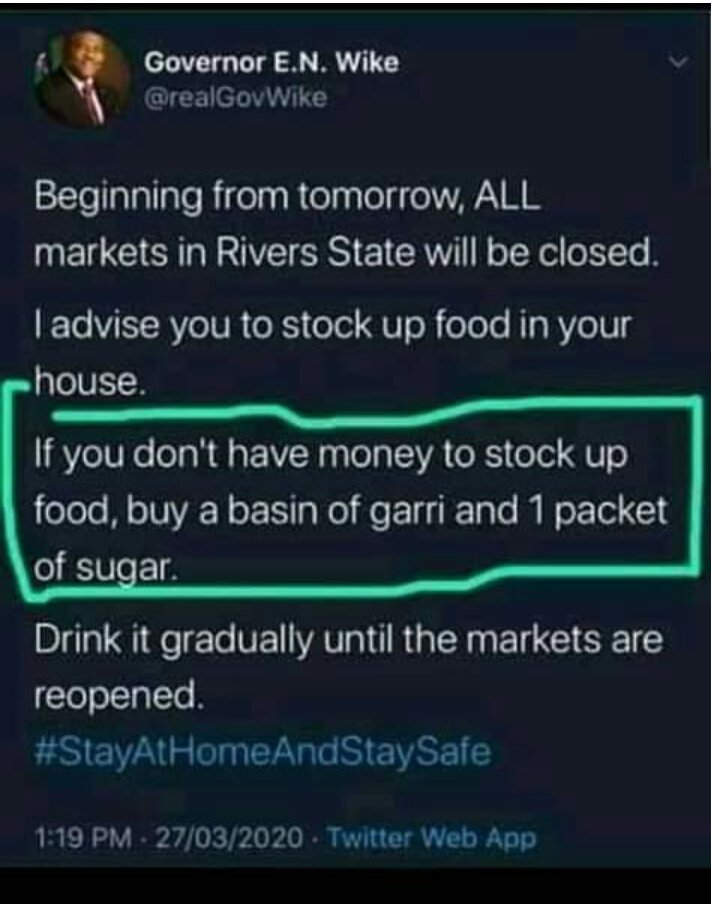 SEE WHAT A USELESS GOVERNOR IN NIGERIA SAID. IDIOT NOT HIS FAULT BUT THE ELECTORATE WHO CAST THEIR VOTES FOR HIM, WHAT A SHAME..#CITY pic.twitter.com/V7gAvGStaM