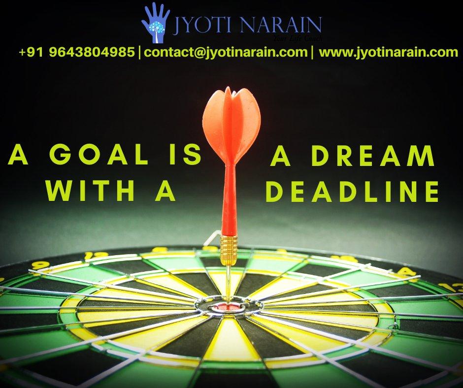 """A Goal is a Dream with a Deadline.""  Click the link and read my full blog : https://www.jyotinarain.com/a-goal-is-a-dream-with-a-deadl……/  #jyotinaraindelhi #jyotinarainbestcoach #bestcoachdelhi #motivationalspeaker #lifecoaching #executivecoaching #careercoaching #businesscoaching #influencer #mentor #strugglepic.twitter.com/BfgthcD6TU"