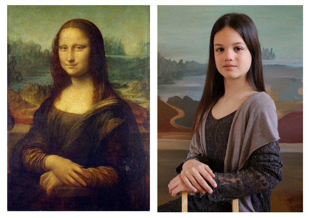 "CGathier on Twitter: ""Daughter vs Mona Lisa #MonaLisa @MuseeLouvre  #LouvreChezVous #Louvre #LouvreMuseum #Paris #art #museumathome  #LeonardodaVinci #DaVinci #QuarantineLife #QuarantineChallenge  #MuseumFromHome #tussenkunstenquarantaine ..."