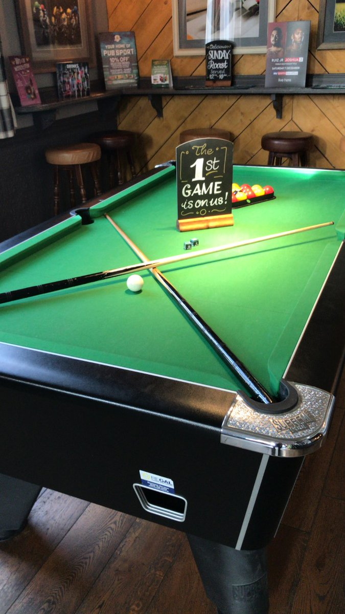Fancy a FREE game of POOL the first one of the day is on us.......!!!