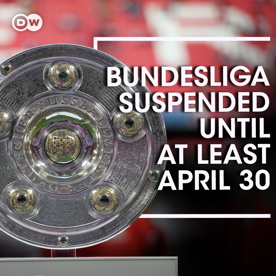 BREAKING Bundesliga clubs vote 'unanimously' to suspend all games until April 30, the DFL announces.