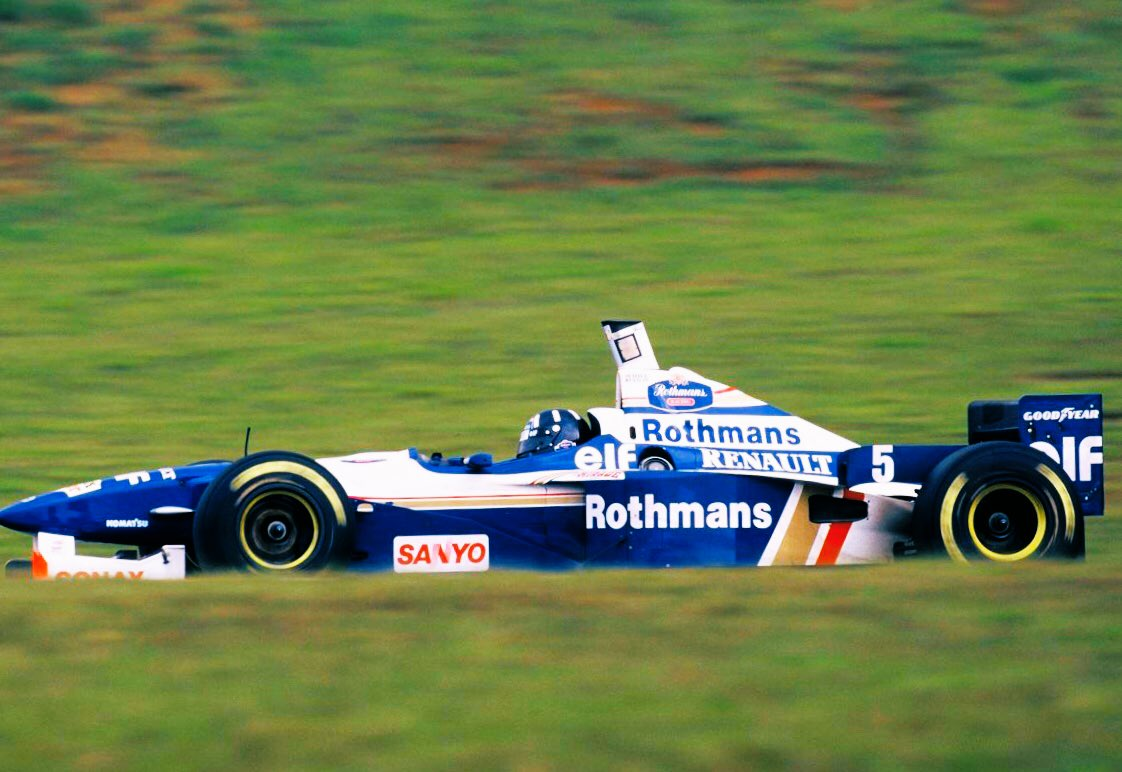 #OnThisDay 24 years ago, on a tricky wet/dry Interlagos track, @HillF1 could congratulate himself on a job very well done: pole position, fastest lap, race victory. Simples.