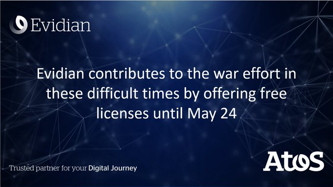 Message from Evidian on free licenses during the COVID-19 crisishttps://t.co/bhT1hHl3SK#Be...