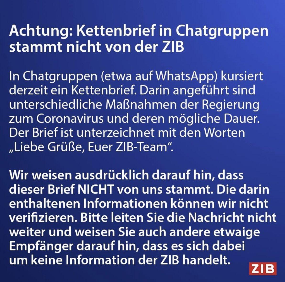 Kettenbrief liebes WhatsApp: Kettenbriefe