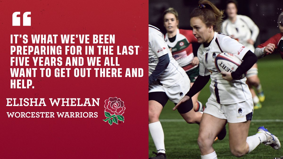 test Twitter Media - . @WorcsWarriorsW winger and final year medicine student @elishamwhelan is set to join the frontline of the @NHSuk to help deal with the Coronavirus 👏👏👏 https://t.co/sAnoKKv7fs