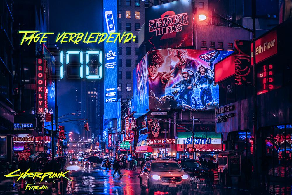 Der #Cyberpunk2077 -#Countdown  vom  http://cyberpunk-forum.com  . Dienstags werfen wir einen Blick auf die Strassen der Grossstadt: Natürlich nur virtuell. #wirbleibenzuhause   ^n³