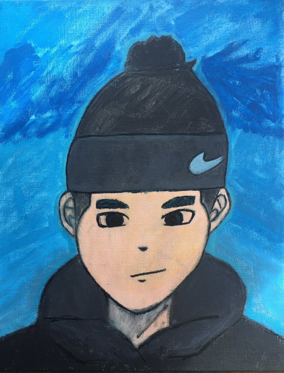 I'm a 14yr old artist #art #paintings #acrylic #acrylicpainting #drawing #ArtistOnTwitter #artists #selfportrait_d7pic.twitter.com/kSFbAHuVVl
