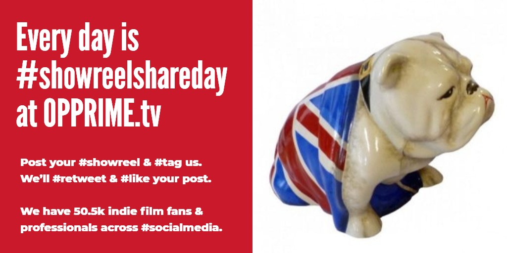 Every day is #showreelshareday @ http://OPPRIME.tv  Posting UR #actoreel ? #tag us. We'll #retweet & #like UR post. 60.6k #indiefilm fans/professionals across #socialmedia are watching #ukactor #northernactor #scottishactor #londonactor #NYCactor #LAactor #cinematographerpic.twitter.com/mBtdOHm2gb