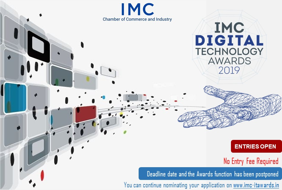 #IMCDigitechAwards An #Award recognizing exceptional work in the world of #Technology. No Application fee. Click here to apply http://imc-itawards.in  #innovation #startups #Banking #technologydevelopment  @NASSCOMStartUps @startupindia @OnwardTek @IMCLadiesWing @IMC_Indiapic.twitter.com/dasoFMpE2W