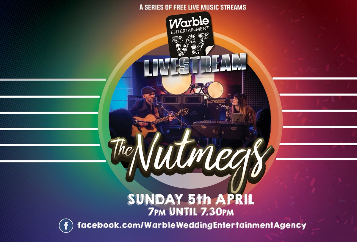 We are delighted to announce a series of live music streams beginning this Sunday at 7pm! 🎙️  We begin with The Nutmegs at 7pm this Sunday on Facebook and trust us, this is one that you do not want to miss. 👏❤️ https://t.co/kWDCEvSBUs