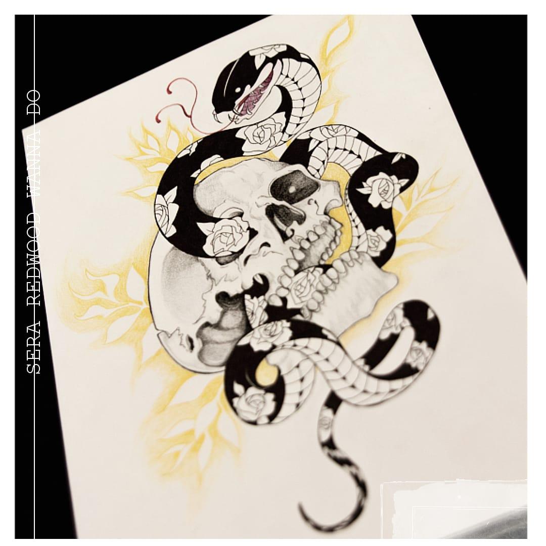 I love snakes . I love flowers . I love tattoos . Who's with me? #myart #wannado #tattoolife pic.twitter.com/gkAUwPE3Ab