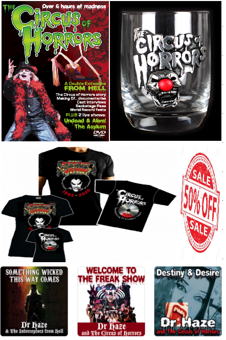 Our 50% off merchandise sale runs until midnight on the 1st April including Alchemy Gothic & Vince Ray designs - But remember offer runs out at midnight 1st April - go to https://shop.circusofhorrors.co.uk/  & use the code COH50pic.twitter.com/rz1r1zazaZ