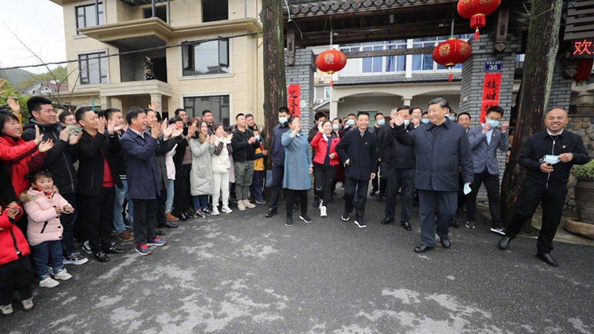 "President #XiJinping: Zhejiang has unique advantages in developing ""beautiful villages"""