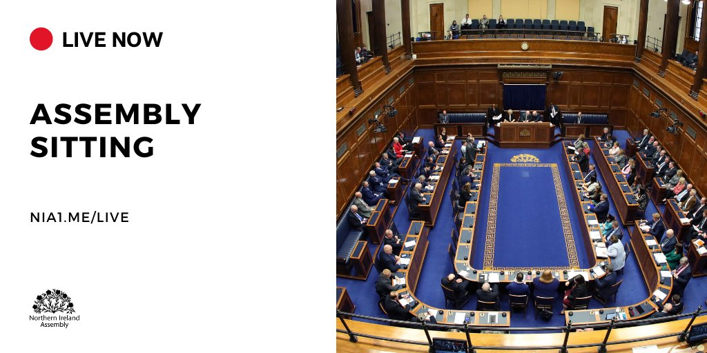 Today's Plenary is now live. Watch now on niassembly.tv #AssemblyBusiness