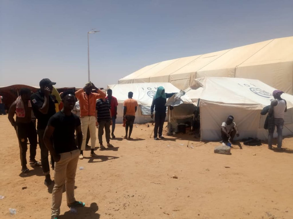 Another 200+ are hosted on a temporary quarantine site on the outskirts of Agadez.