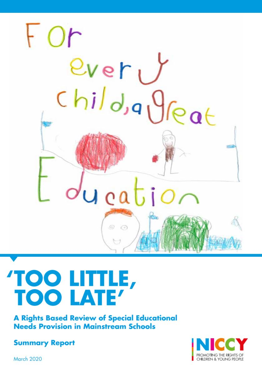 """Children's Commissioner @nichildcom launches report """"Too Little, Too Late"""" which highlights the findings of a rights based review of Special Educational Needs (SEN) within mainstream schools in Northern Ireland. Read about it here: https://cinicommunityhub.org/sen-report-too-little-too-late-review-by-niccy/… #CiNICommunityHubpic.twitter.com/0aEq4n2Hga"""