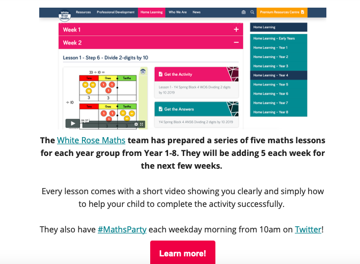 Check out our latest email which includes free home learning resources, a message from us and a reminder of our competition where great prizes can be won!   Click here to read >> https://t.co/V7D6CBYyfM  #WestYorkshire #MathsHub #HomeLearning
