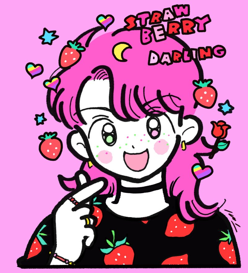 Strawberry Darling  #Illustrations #イラスト pic.twitter.com/Z0I2I5qxMb