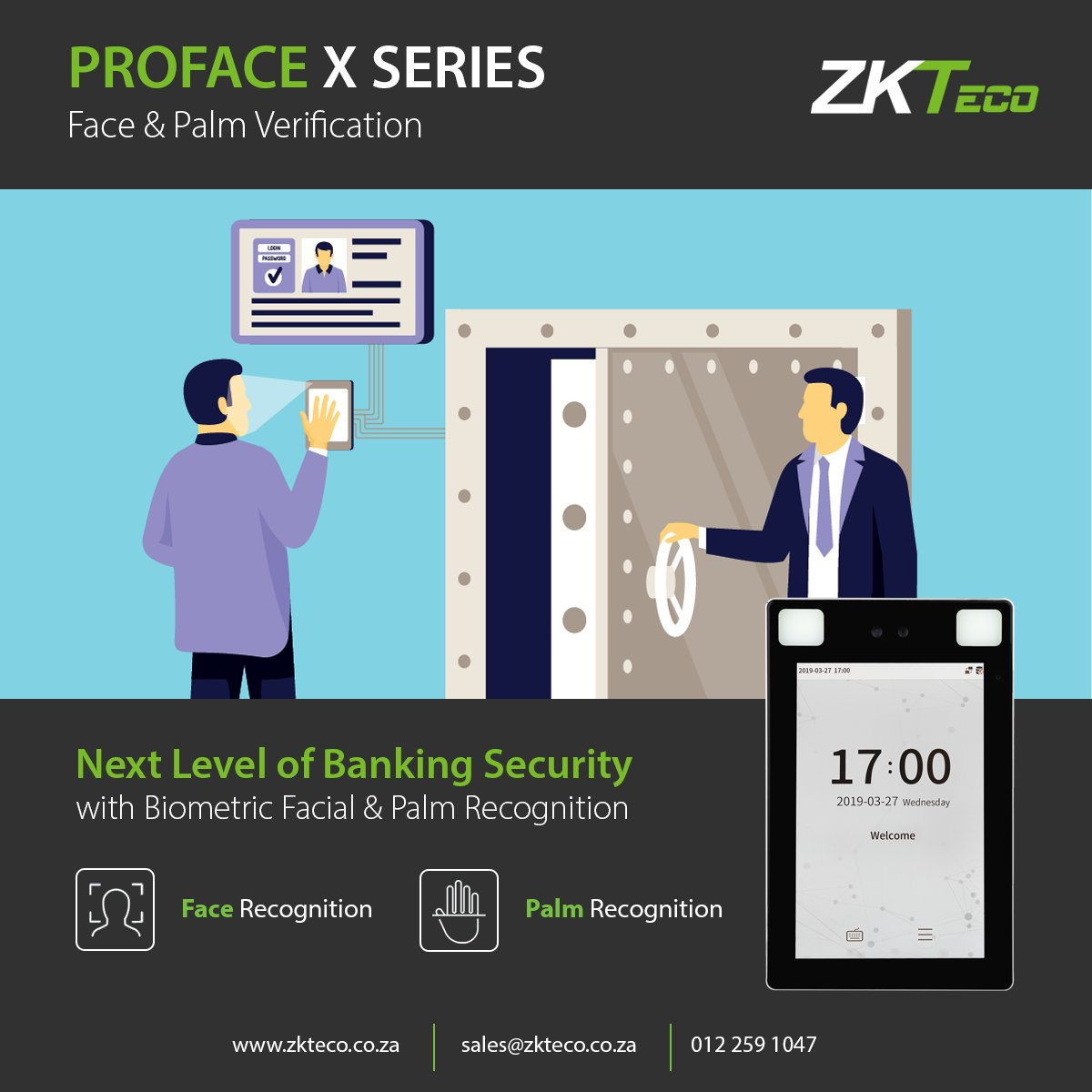 Are you ready to upgrade your #AccessControl solutions?   Optimise safety and security within high restricted areas with our newly released Visible Light #FacialRecognition Access Control terminals.   Get to know more about this incredible Technology:  https://zcu.io/pUJSpic.twitter.com/QzfCU85c8m